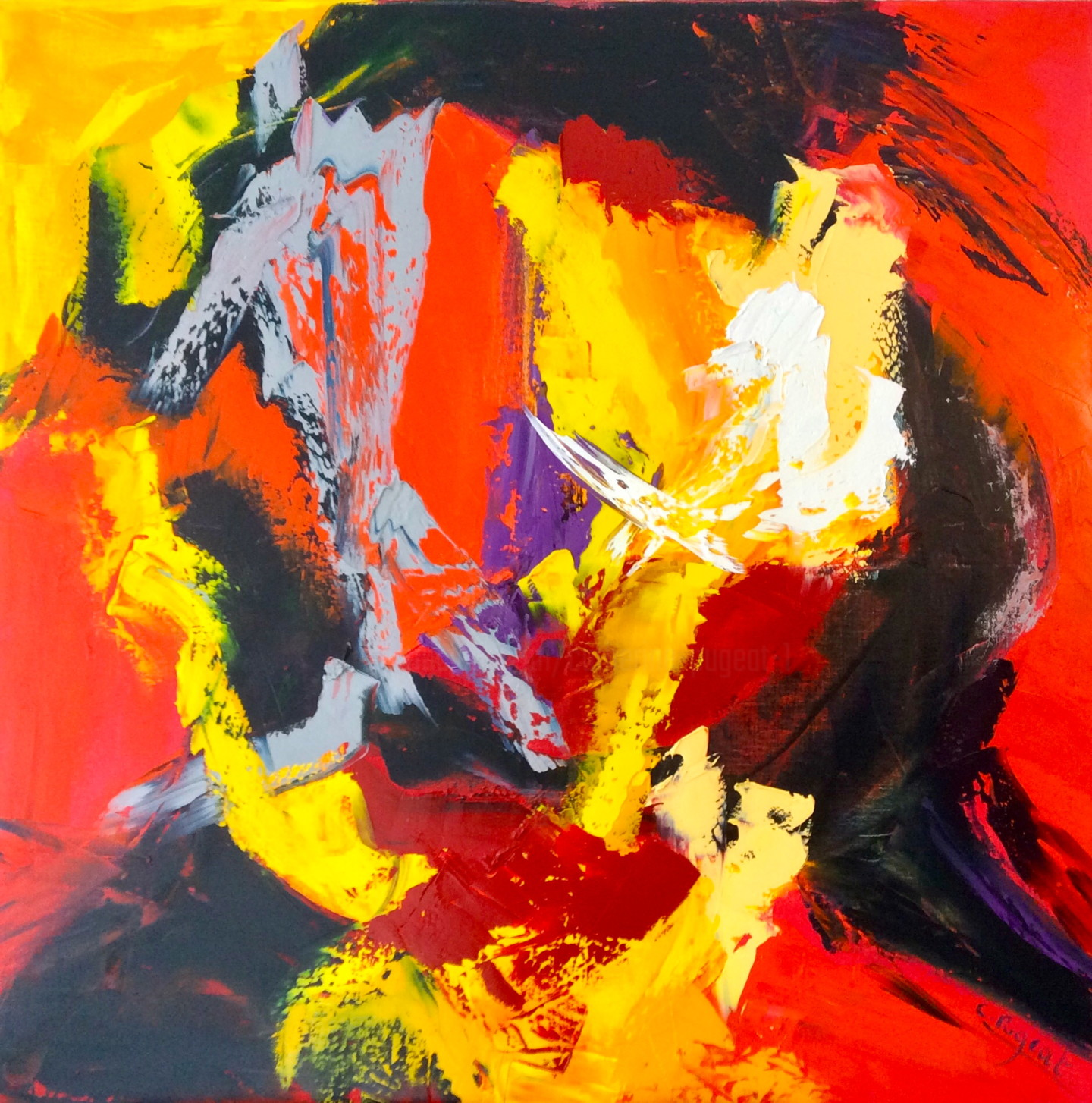 """Catherine Pugeat - Collection """"Embrasement n°2"""""""
